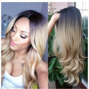 Other - Blonde ombré long curly wig 26inches long